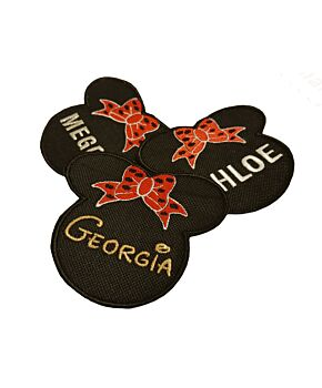 Minnie Personalised Name Embroidered Patches Sew Iron On Badge Tag Hat Jeans Club AMZ