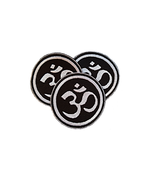 Aum Om Symbol Embroidery Patches Iron On Jacket Badge Biker Jeans Applique Yoga