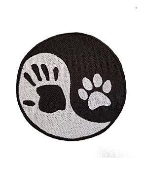 Emporium Embroidery Ying Yang Hand and Paw Embroidery Iron On Patches Yin Yang Patch for Jacket Cap Badge Jeans Applique