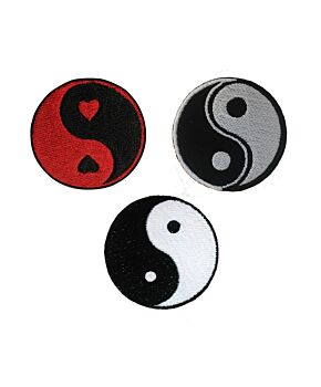 Yin Yang Embroidery Patches Iron On / Sew On