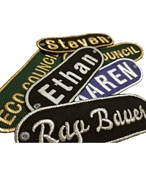 Personalised Oval Embroidered Name Patches