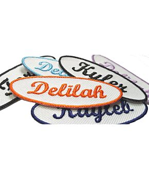 Personalised New Oval Embroidered Name Patches