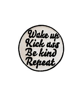 Wake Up Funny Quotes Embroidery Iron On Patches Jacket Badge Cap Jeans Applique