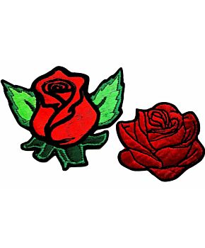 Rose Flower Patch Embroidery Patches Iron On Badge Jeans Floral Dress Applique