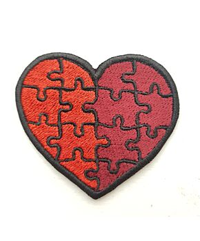 Love Heart Embroidery Iron On Patches  Jacket Badge Valentine's Jeans Applique