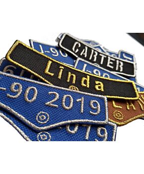 Personalised Pocket Name Embroidered Patches