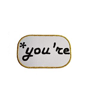You're Funny Quotes Message Embroidery Iron On Patches Jacket Badge Cap Jeans Applique