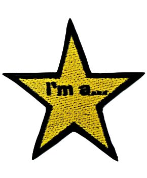 I'm a star Quotes Embroidery Iron On Patches Jacket Badge Cap Jeans Applique