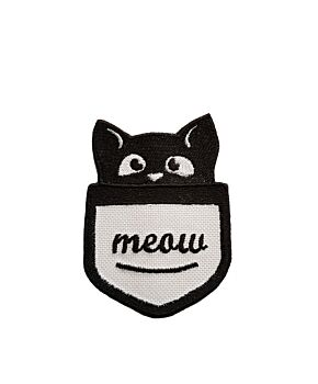 Cute Pocket Cat Iron On Embroidered Patch Sew On Jeans Embroidery Badge Jacket Applique