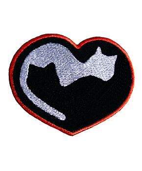 Emporium Embroidery Cat Lover Embroidery Iron On Sew On Patches Kitten Patch for Jacket Cap Badge Heart Cat Jeans Applique