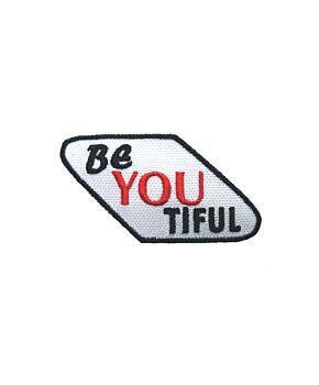 BeYouTiful Embroidered Iron On Patches Jacket Badge Jeans Applique Bag Quotes