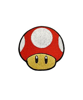 Mario's Mushroom Patch Embroidered Iron On Patches Jacket Badge Jeans Applique
